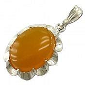 مدال نقره عقیق زرد شرف الشمس