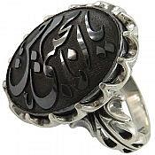 انگشتر نقره حدید حکاکی یا امام حسن مجتبی مردانه