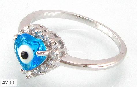 انگشتر نقره چشم زخم سایز2 قلب زنانه - 4200