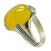 انگشتر نقره عقیق شرف الشمس طرح شایان مردانه