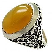 انگشتر نقره عقیق شرف الشمس طرح یاشار مردانه