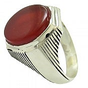 انگشتر نقره عقیق فاخر مردانه
