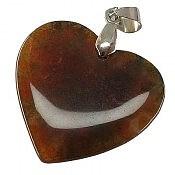 مدال عقیق خزه ای طرح قلب