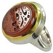 انگشتر نقره عقیق یمن یا رقیه مردانه دست ساز