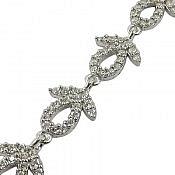 دستبند نقره طرح ارمغان زنانه