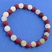 دستبند جید قرمز و سفید طرح حلما زنانه