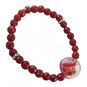 دستبند جید و کریستال جذاب و خاص زنانه