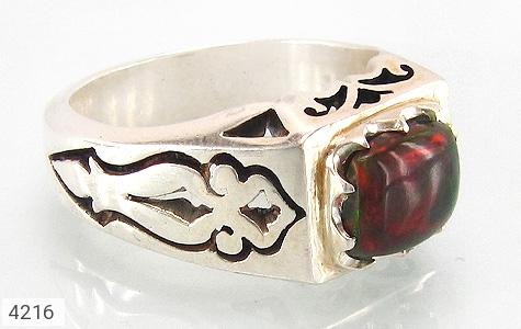 انگشتر نقره اپال آتشی بی نظیر دست ساز - 4216