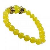 دستبند جید زرد زنانه