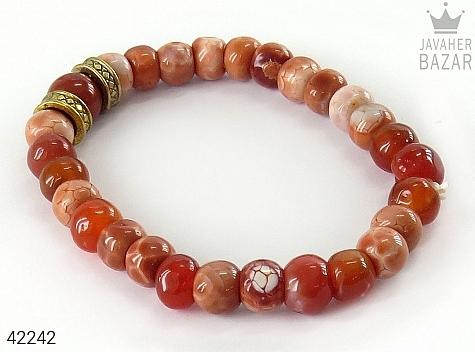 دستبند عقیق طرح نسیم زنانه - 42242