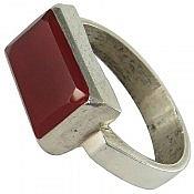 انگشتر نقره عقیق طرح صفوی مردانه دست ساز
