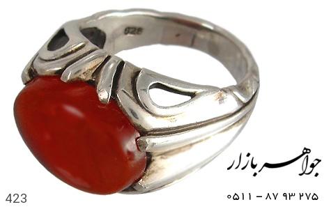 انگشتر نقره عقیق صفوی درشت - 423