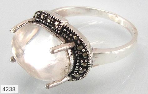 عکس انگشتر نقره دُر نجف طرح ناز زنانه