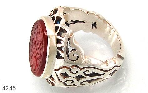 انگشتر نقره عقیق سرخ بی نظیر مردانه دست ساز - 4245