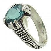 انگشتر نقره توپاز شاهانه مردانه