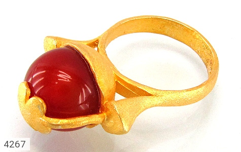 انگشتر نقره عقیق طرح زیرخاکی زنانه - 4267