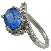 انگشتر نقره توپاز الماس تراش زنانه
