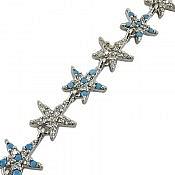 دستبند نقره طرح ستاره زنانه