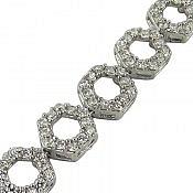 دستبند نقره شیک زنانه