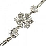 دستبند نقره میکرو طرح برف زنانه