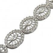 دستبند نقره طرح جواهری ملکه زنانه