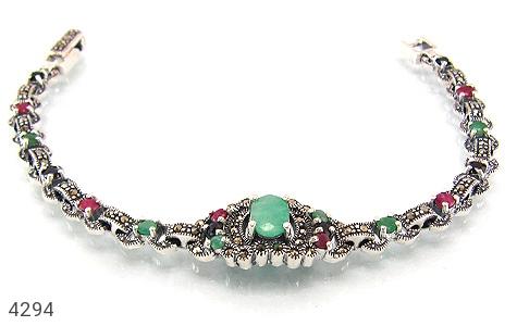 عکس دستبند یاقوت و زمرد و مارکازیت پرنسس زنانه