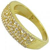 انگشتر نقره طلایی زنانه
