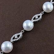 دستبند نقره مروارید طرح دیانا زنانه