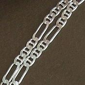 زنجیر نقره 57 سانتی تی فیگارو