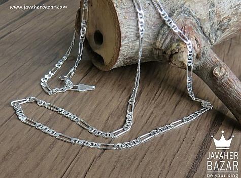 زنجیر نقره 55 سانتی تی فیگارو - 43151