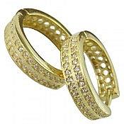 گوشواره نقره طلایی