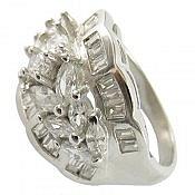 انگشتر نقره جواهری زنانه