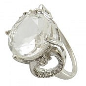 انگشتر نقره در نجف الماس تراش زنانه
