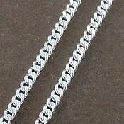 زنجیر نقره 50 سانتی