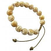 دستبند نقره صدف زنانه