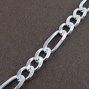 زنجیر نقره 48 سانتی