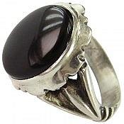 انگشتر نقره عقیق مرغوب مردانه