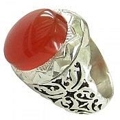 انگشتر نقره عقیق یمن مرغوب مردانه دست ساز
