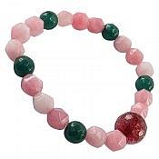 دستبند جید و عقیق خوش رنگ زنانه