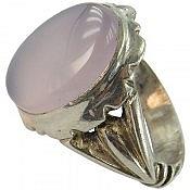 انگشتر نقره عقیق کبود شاهانه مردانه
