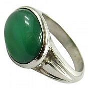 انگشتر نقره عقیق سبز مردانه دست ساز