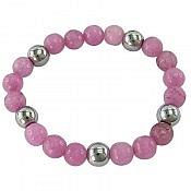 دستبند حدید و جید خوش رنگ زنانه