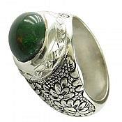 انگشتر نقره اپال فاخر و ارزشمند مردانه دست ساز