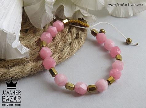 دستبند جید و حدید خوش رنگ زنانه - 44090