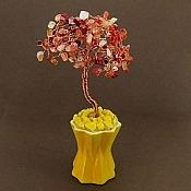 تندیس مس عقیق گلدان