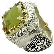 انگشتر نقره الکساندریت زولتنایت شاهانه مردانه