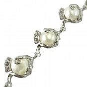 دستبند مروارید طرح نگار زنانه