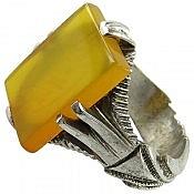 انگشتر نقره عقیق شرف الشمس مردانه دست ساز