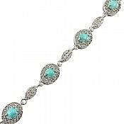 دستبند نقره فیروزه نیشابوری ارزشمند زنانه