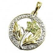 مدال نقره زبرجد جواهری رنگ ثابت
